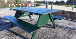 Aluminium picknicktafel